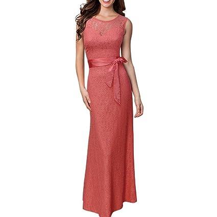 Vestido de mujer Sexy Señoras Floral Cordón La longitud del piso Boda Dama de honor Elegante