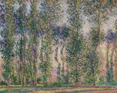 High Quality Polyster Canvas ,the High Quality Art Decorative Canvas Prints Of Oil Painting 'Poplars At Giverny, 1887 By Claude Monet', 20x25 Inch / 51x64 Cm Is Best For Living (Cinema Costume Ban)