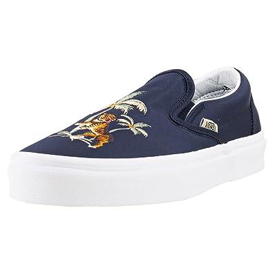 Vans Classic Slip On Damen Sneaker Schwarz: Amazon.de: Schuhe ...