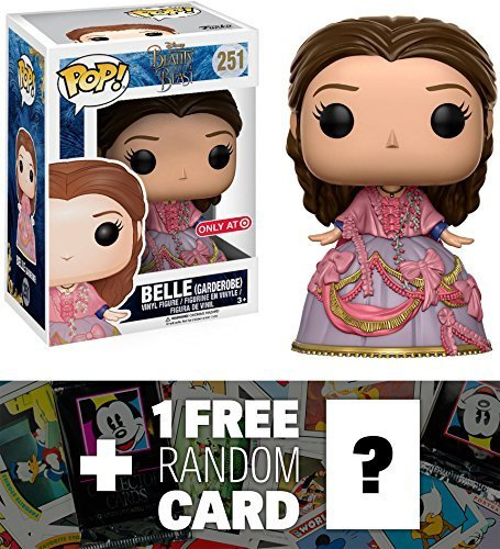 Funko Belle [Garden Robe] (Target Exclusive) POP! Disney x Beauty & The Beast Vinyl Figure + 1 FREE Classic Disney Trading Card Bundle (12798)
