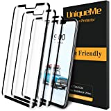 [3 Pack] UniqueMe for LG G8 Thinq Screen Protector [3D Full Coverage] Tempered Glass [Case Friendly] with Lifetime…
