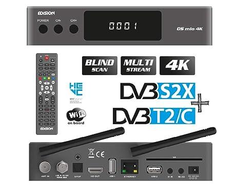 edision os mio 4k  Edision OS Mio 4K UHD Combo DVB-S2X + DVB-T2/C H.265 HEVC ...