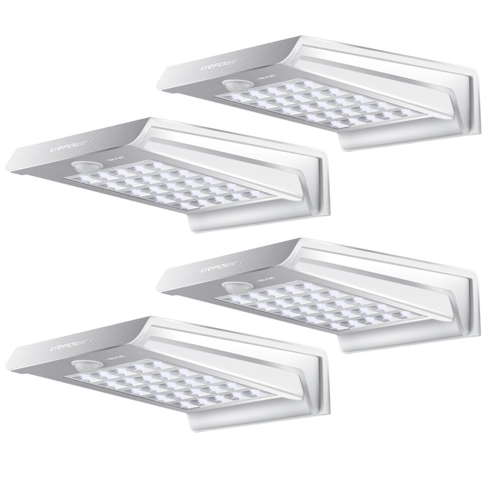 Solar Lights,URPOWER 20 LED Outdoor Solar Motion Sensor Lights ,Solar Powered Wireless Waterproof Exterior Security Wall Light for Patio,Deck,Yard,Garden,Path,Home,Driveway,Stairs,NO DIM MODE(4Pack) by URPOWER