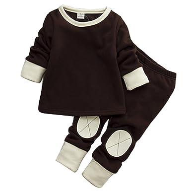 d164ed9fe Amazon.com  Gaorui Baby Toddler Girls Winter Pyjamas Set Fleece ...