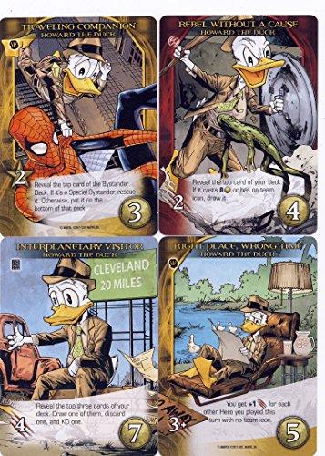 2015 Marvel Legendary 3D 14-Card Playable Howard the Duck Hero Deck