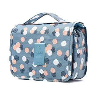 Hanging Toiletry Bag Organizer Bag with Hook and Handle Waterproof Cosmetic Bag Dop Kit for Men or Women