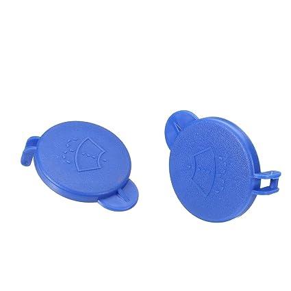 MagiDeal 2pcs Tapa de Botella de Arandela de Parabrisas 2001-2008 Azul 1488251 para Ford