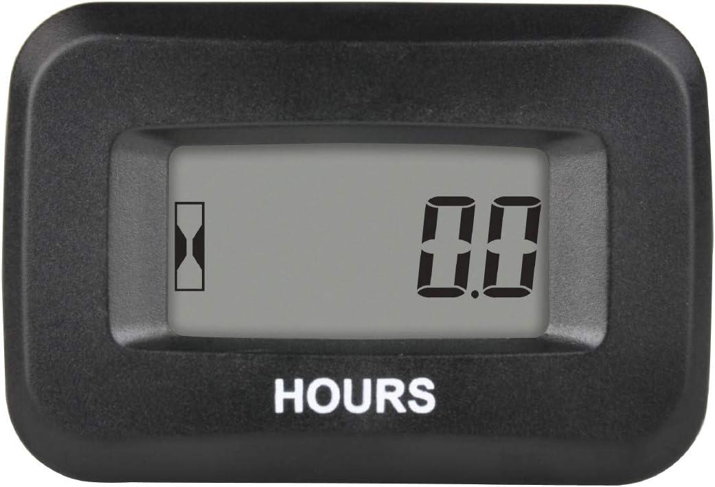 Runleader - Contador de Horas de Mantenimiento Digital, voltios DC 5 V a 60 V para ZTR, cortacésped, Tractor, generador, Carrito de Golf, depurador de automóviles, compresor de Motor ATV