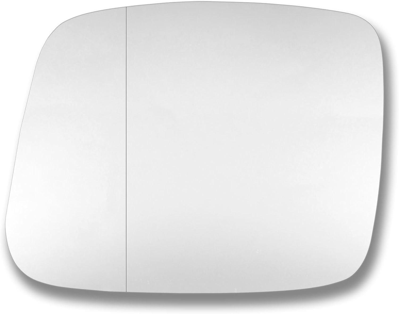 Spiegelglas Glas links T/ür Stick auf Spiegel Ersatz Beifahrerseite Quick Fix Silber # meva0205lwwl Echtglas mevan