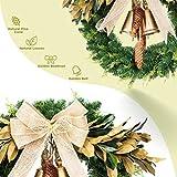 LIFEFAIR 24 inch Wreaths for Front Door, with 75