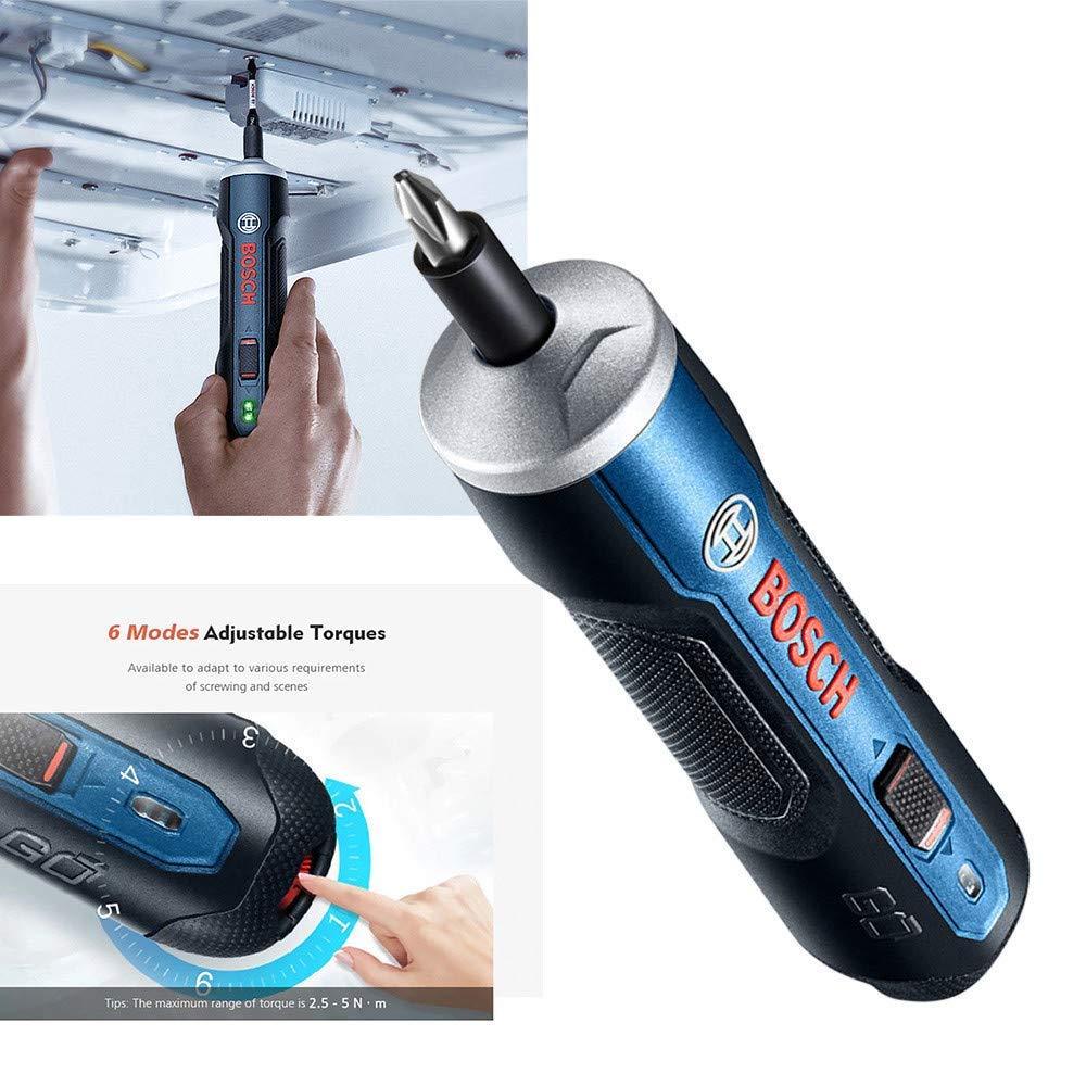 Mini Elektroschrauber Set Akku-Bohrmaschine con Bohrer Kits Set USB Ladekabel y adaptador Top Qualit/ätsprodukt Mumuj Bosch Go 3,6 V Smart Akkuschrauber Set