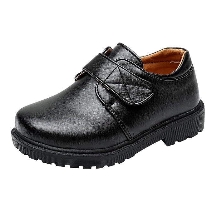 hibote Zapatos Oxford para Niño - Zapatos de Vestir Formales de Fiesta de la Escuela Negra para Niños Unisex - 18062606: Amazon.es: Zapatos y complementos