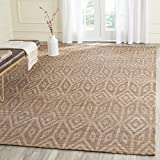 Safavieh Cape Cod Collection CAP411A Hand Woven Geometric Camel Jute and Cotton Area Rug (4' x 6')
