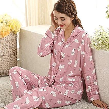 MH-RITA La mujer Otoño Invierno pijamas suaves y cómodos traje Inicio Impresión Mujer Pijama