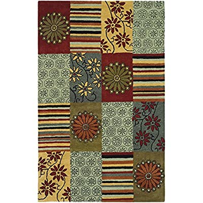 Safavieh Soho Collection SOH817A Handmade Multicolored Premium Wool Area Rug