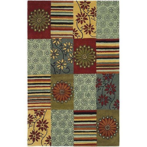 - Safavieh Soho Collection SOH817A Handmade Multicolored Premium Wool Area Rug (7'6