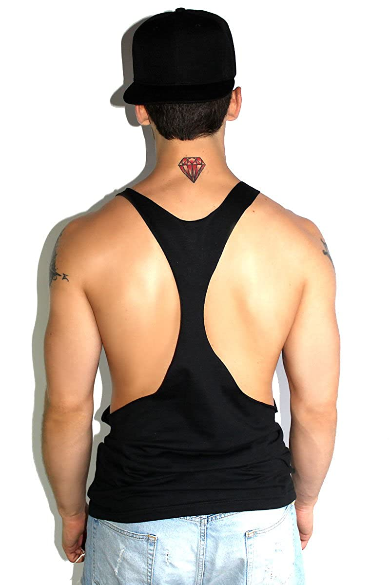 a4e1f36b56e01 Marek+Richard Core String Tank-Black at Amazon Men s Clothing store