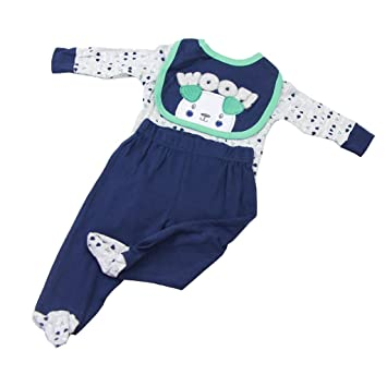 51d21f198335 Homyl Lovely Sheep Patterns Rompers Clothes for 22inch-23inch Reborn ...
