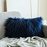 MIULEE Decorative New Luxury Series Style Faux Fur Throw Pillow Case Cushion Cover for Sofa Bedroom Car
