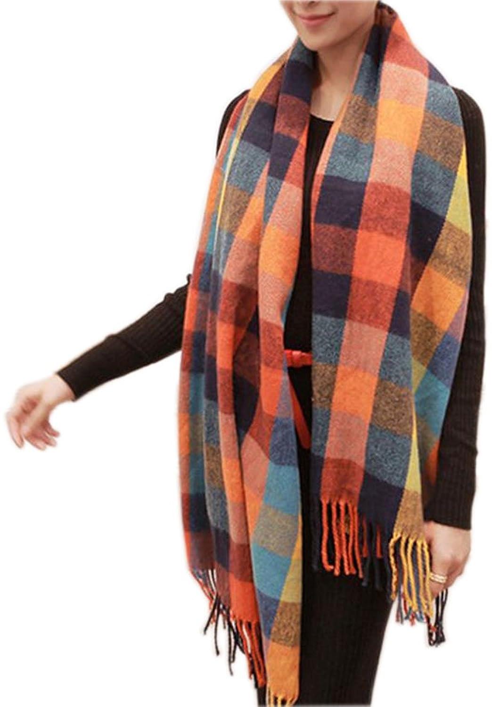 Bettyhome Scarf Wrap Shawl Plaid Cozy Checked Women Lady Blanket Oversized Tartan