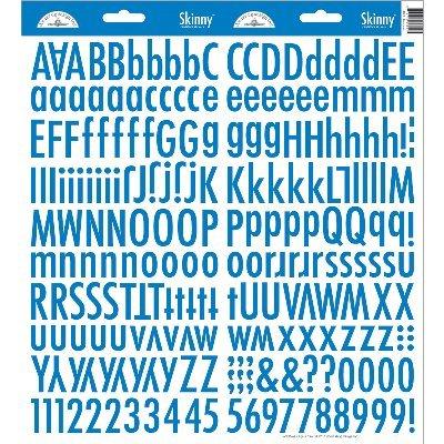 DOODLEBUG Skinny Cardstock Alpha Stickers, Blue - Doodlebug Alpha Stickers Cardstock