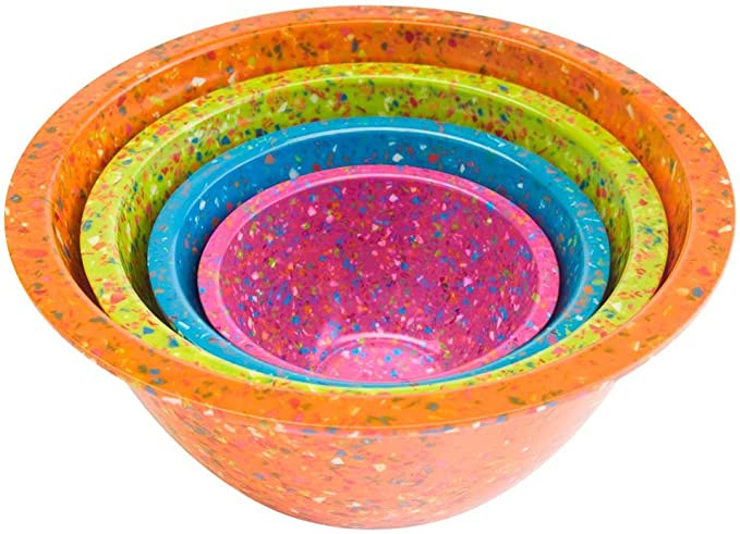 Zak Designs Confetti Mixing Bowl Set 4 Piece Daa Kitchen Dining