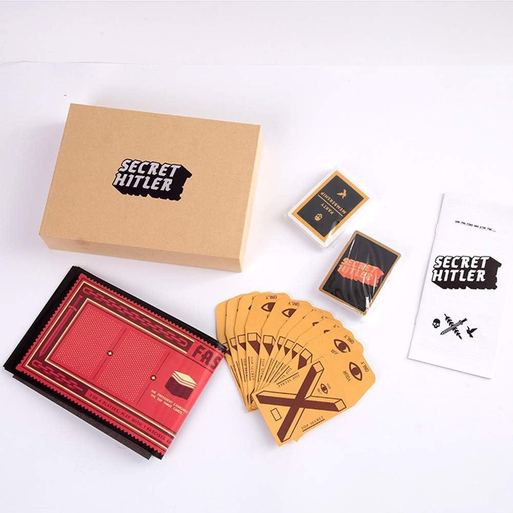 AOTE-D Juegos De Cartas Secret Hitler Interesante (estándar): Amazon.es: Deportes y aire libre