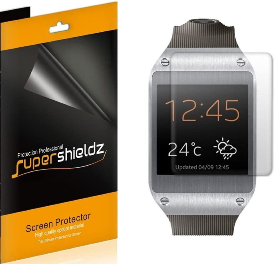 High Definition Clear Shield 6 Pack Supershieldz for Samsung Galaxy Gear Smartwatch Screen Protector PET