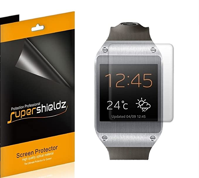 (6 Pack) Supershieldz for Samsung Galaxy Gear Smartwatch Screen Protector, High Definition Clear Shield (PET)