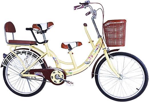 FLYFO Bicicletas Tándem para Padres E Hijos, Bicicletas para ...