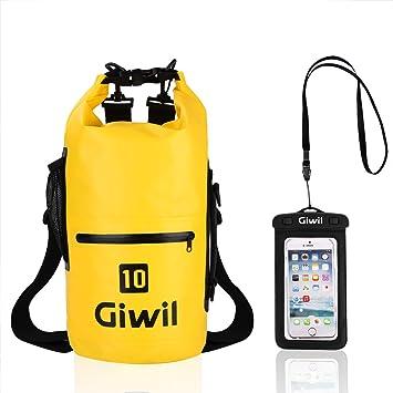 10 litros 20 litros 30 litros Bolsa seca Giwil, Roll Top bolsa impermeable Bolsa estanca impermeable ...