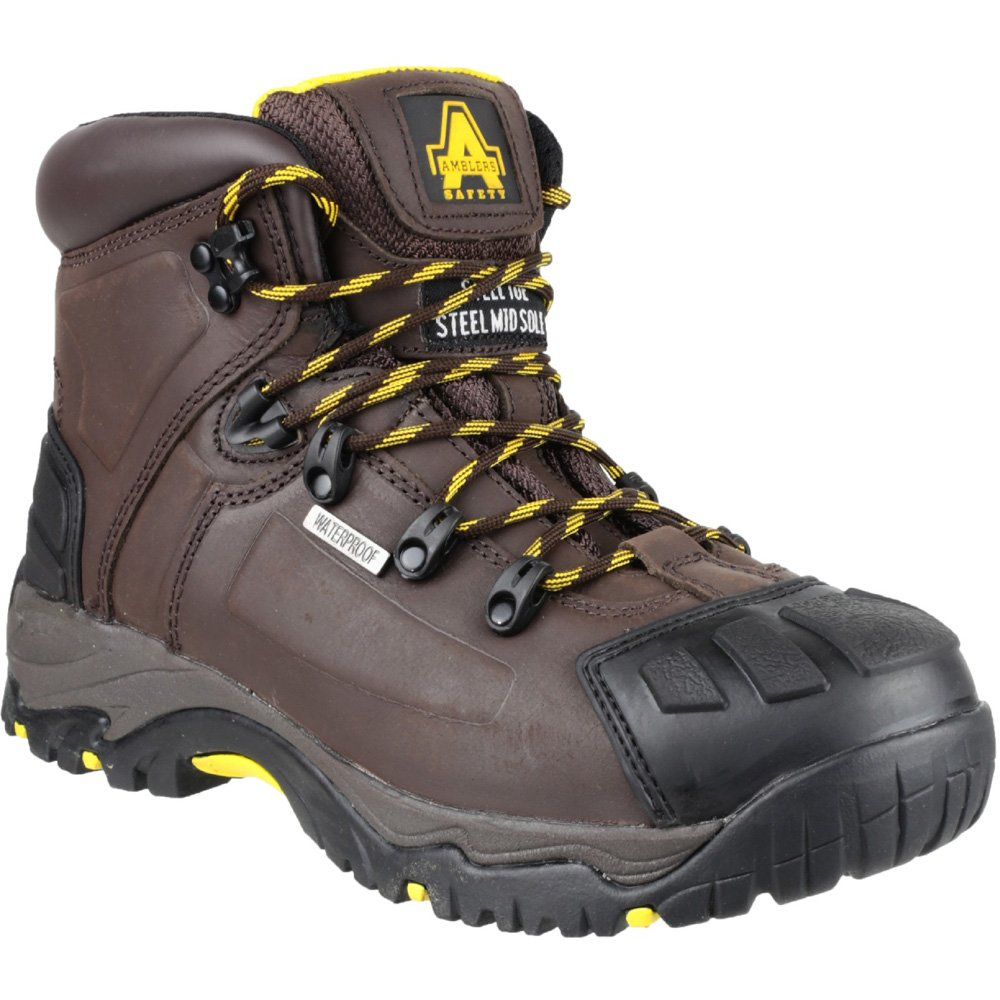 Amblers Waterproof Safety   Herren FS39 Leder Waterproof Amblers Safety Stiefel Braun Braun cdb93e