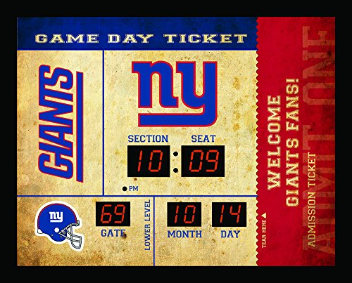 Team Sports America New York Giants Bluetooth Scoreboard Wall Clock