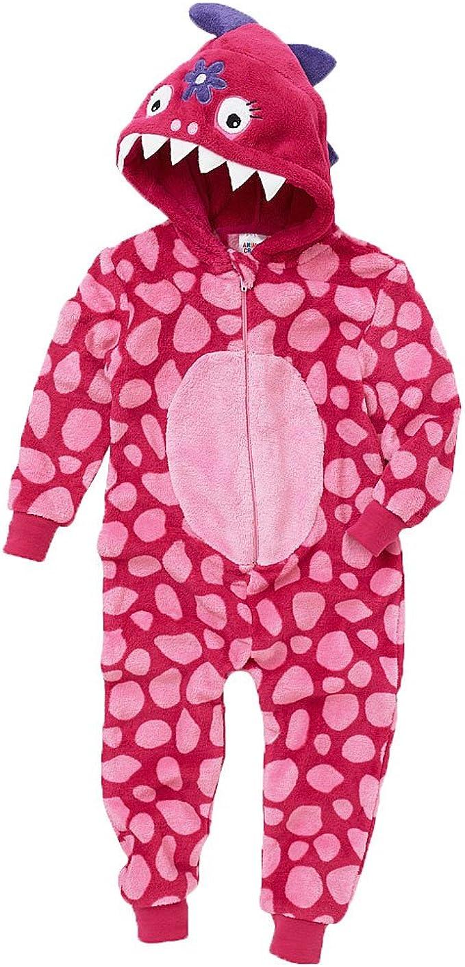 Onesies Animal Crazy Girls Supersoft Glitter Fleece Unicorn Jumpsuit Playsuit