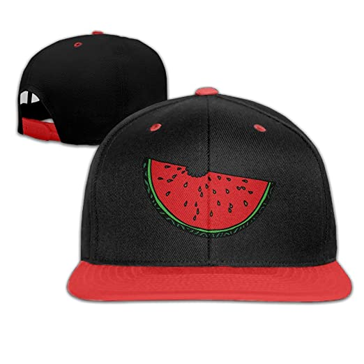 c1827e06e60 Cartoon Fresh Fruit Watermelon Snapback Adjustable Baseball Unisex Hat Red