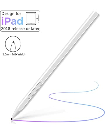 VIFLYKOO Stylet Tactile,Stylet Stylo pour iPad 2018/&2019,num/érique /à Stylus Actif Rechargeable USB avec Pointe Fine de 1.2 mm,Peut /être utilis/é /écrire et Dessiner sur iPad Pro 11//12.9//Air3-Blanc