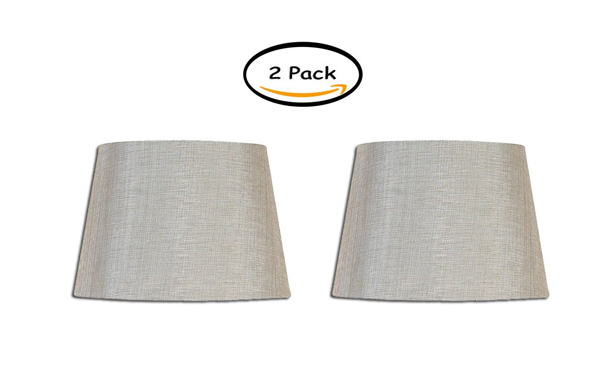 PACK OF 2 - Better Homes and Gardens Medium Textured Lamp Shade, Silver