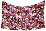 LA LEELA Likre Long Swim Tie Pareo Women Sarong Digital 78''X39'' Multicolor_7177