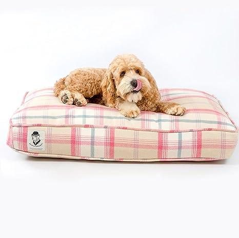 Lords & Labradors Balmoral Tweed perro cojín cama – lujo perro cojín en nuestra hermosa balmoral