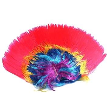 Ularma Peluca cresta Halloween Masquerade, peinado de mohicano Punk (D)