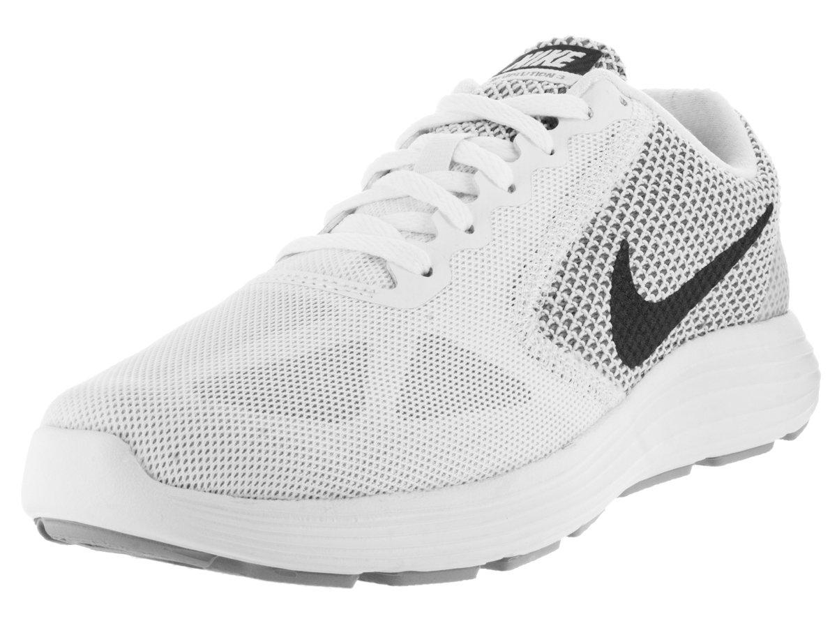 Revolución Nike 3 Blanco / MTLC Gris oscuro / gris lobo zapato corriente 5.5 con nosotros 38.5 EU|White/Mtlc Dark Grey/Wolf Grey