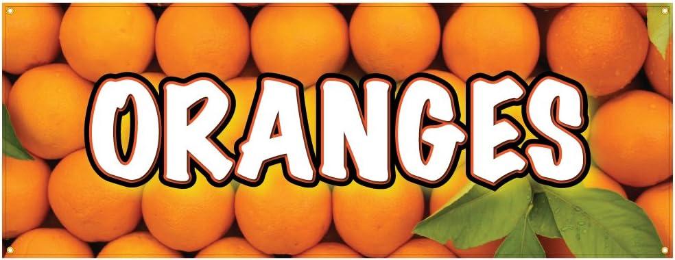 Oranges Banner Fresh Citrus Farmers Market You Pick 48x120