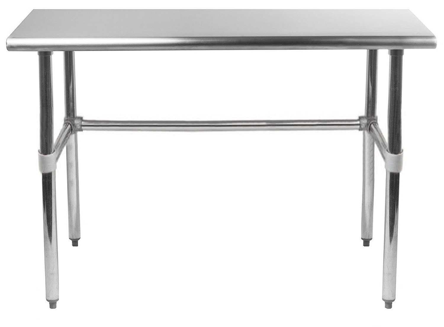 Universal SG2448-RCB - 48'' X 24'' Stainless Steel Work Table W/ Galvanized Cross Bar