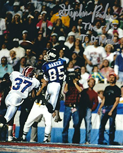 Autographed Stephen Baker New York Giants 8x10 photo - w/COA