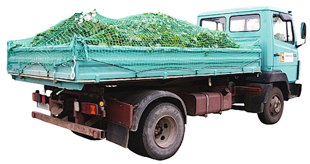 Ladungssicherungsnetz SafeNet Abdecknetz 8 m x 3,5 m Anhängernetz grün