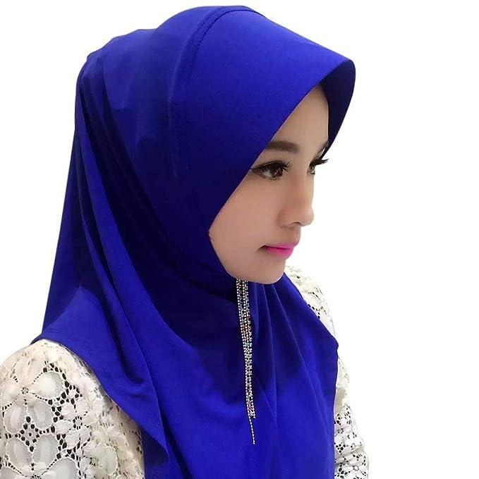 Bufanda De Hijab Bufanda Warme De Para Mujer Lista Mujer Casquillo De Hijabs De Color Sólido Bufandas De Hijab Abrigo De Mujer Turban Hijab: Amazon.es: Ropa ...