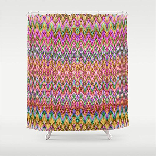 Huisfa Missoni Style Shower Curtain 72 X Inches