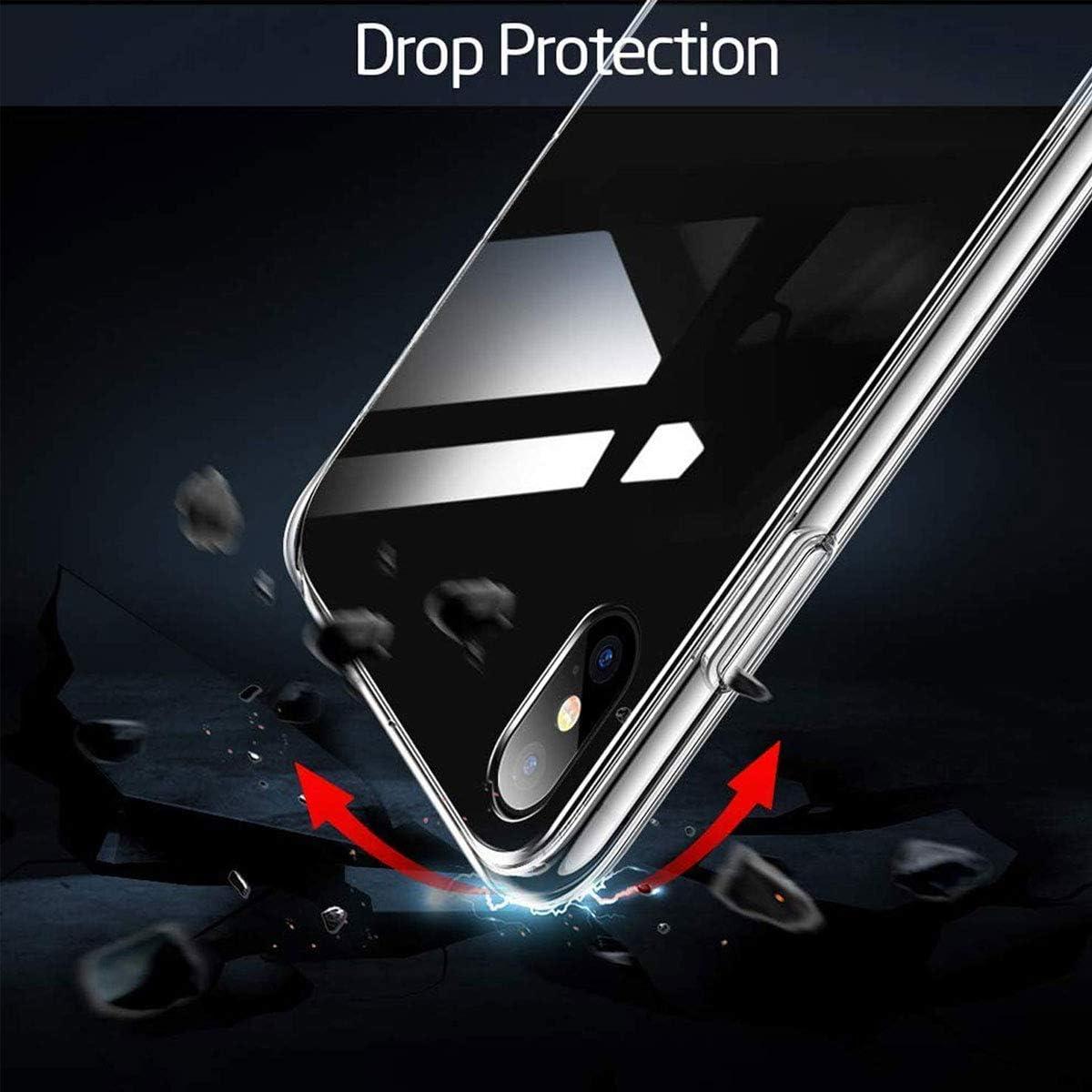 Clear Souple Silicone /Étui Protection Bumper Housse Clair Doux TPU Gel Case Cover pour Oppo Realme 6 6.5 Verre tremp/é /écran Protecteur WLSM Coque pour Oppo Realme 6 Transparente