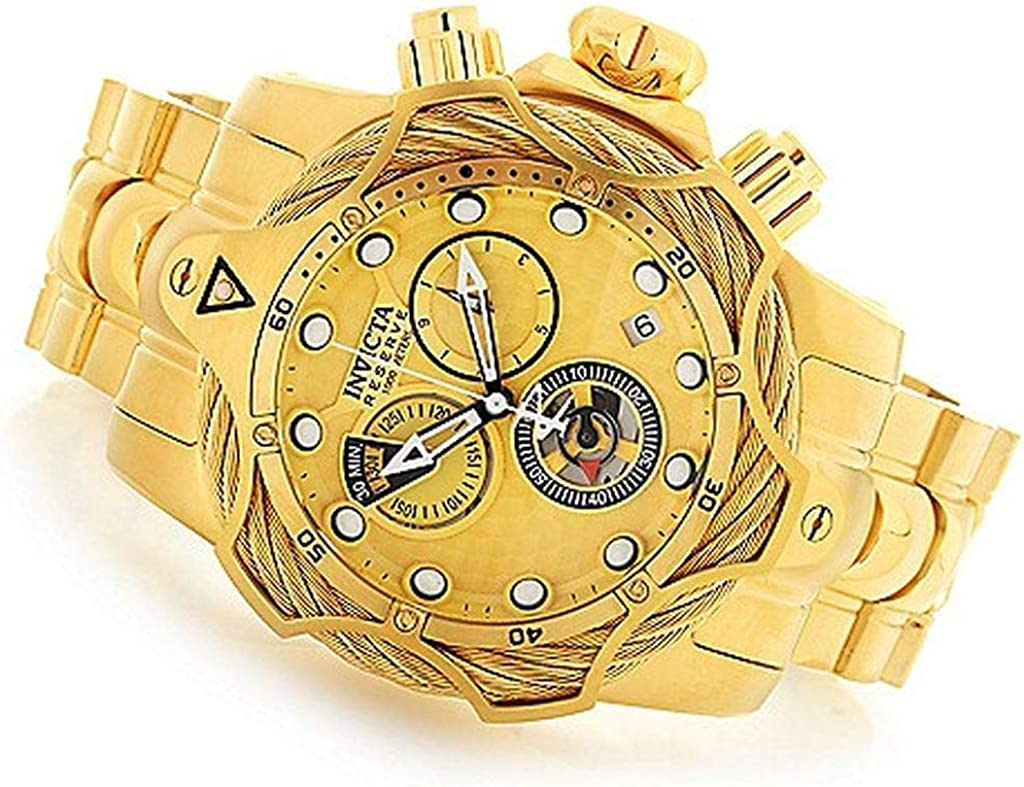 Invicta Reserve Men s Gold-Tone Chronograph Watch 27702