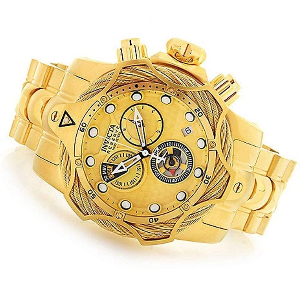 Invicta Reserve Men s Gold-Tone Chronograph Watch 27702